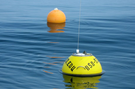 yellow and orange buoys in the ocean