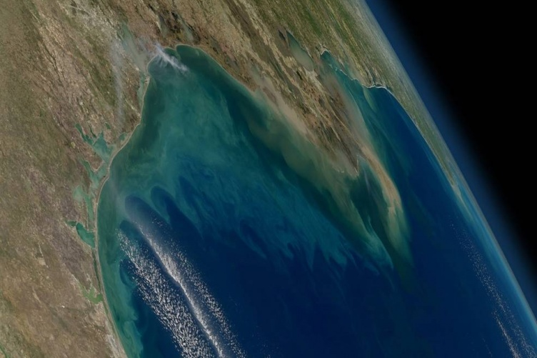 Aerial photo of Gulf of Mexico