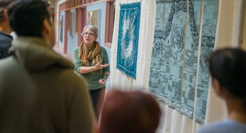 Lindsay Olson discusses her fabric artwork based on acoustics research.