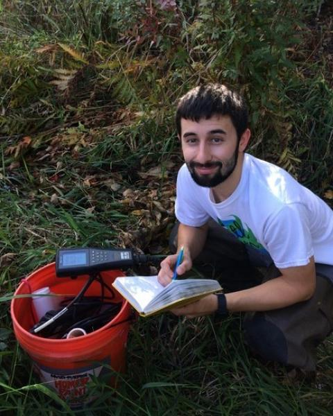 A headshot of Dan Bolster, a graduate student in the Earth Systems Research Center.