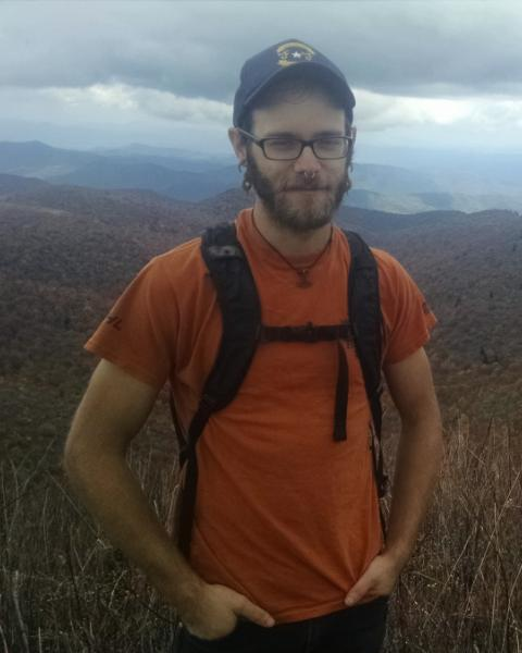 A headshot of Rhys Brydon Williams, a graduate student in the Earth Systems Research Center.