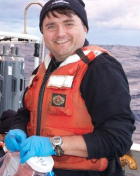 A headshot of Kai Ziervogel, a research assistant professor in the Ocean Process Analysis Laboratory.
