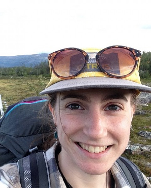 Sophia Burke, a graduate student with the Earth Systems Research Center.