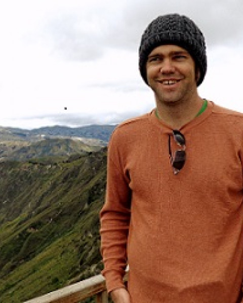 Nathan R. Thorp, a graduate student in the Earth Systems Research Center.