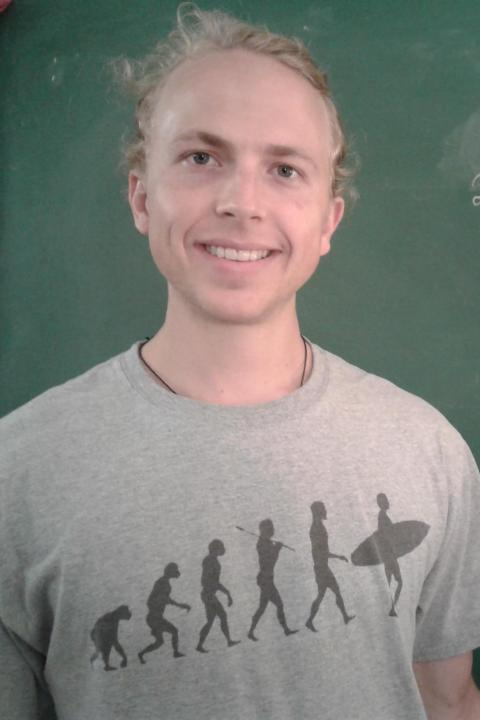 A headshot of Jacob Koile, a graduate student in the Space Science Center.