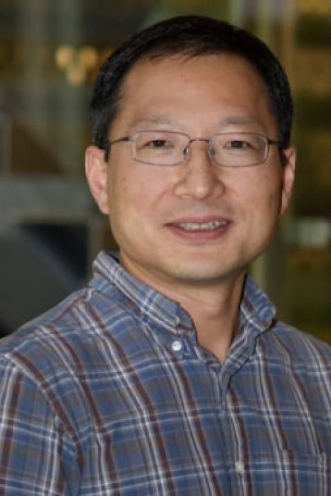 A headshot of Ningyu Liu, an associate professor in the Space Science Center.