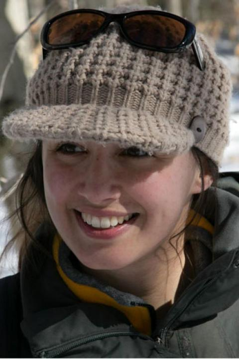 A headshot of Rebecca Sanders-DeMott, postdoctoral research associate with the Earth Systems Research Center.