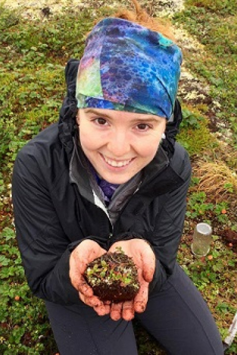 Clarice Perryman, a graduate student in the Earth Systems Research Center.