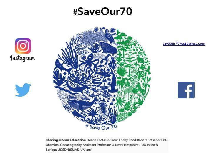 SaveOur70 poster and social media information